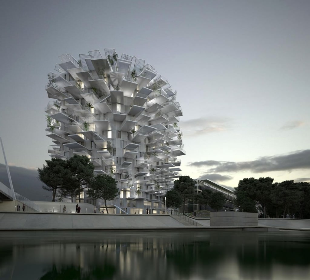 l 39 arbre blanc immeuble design montpellier architecte