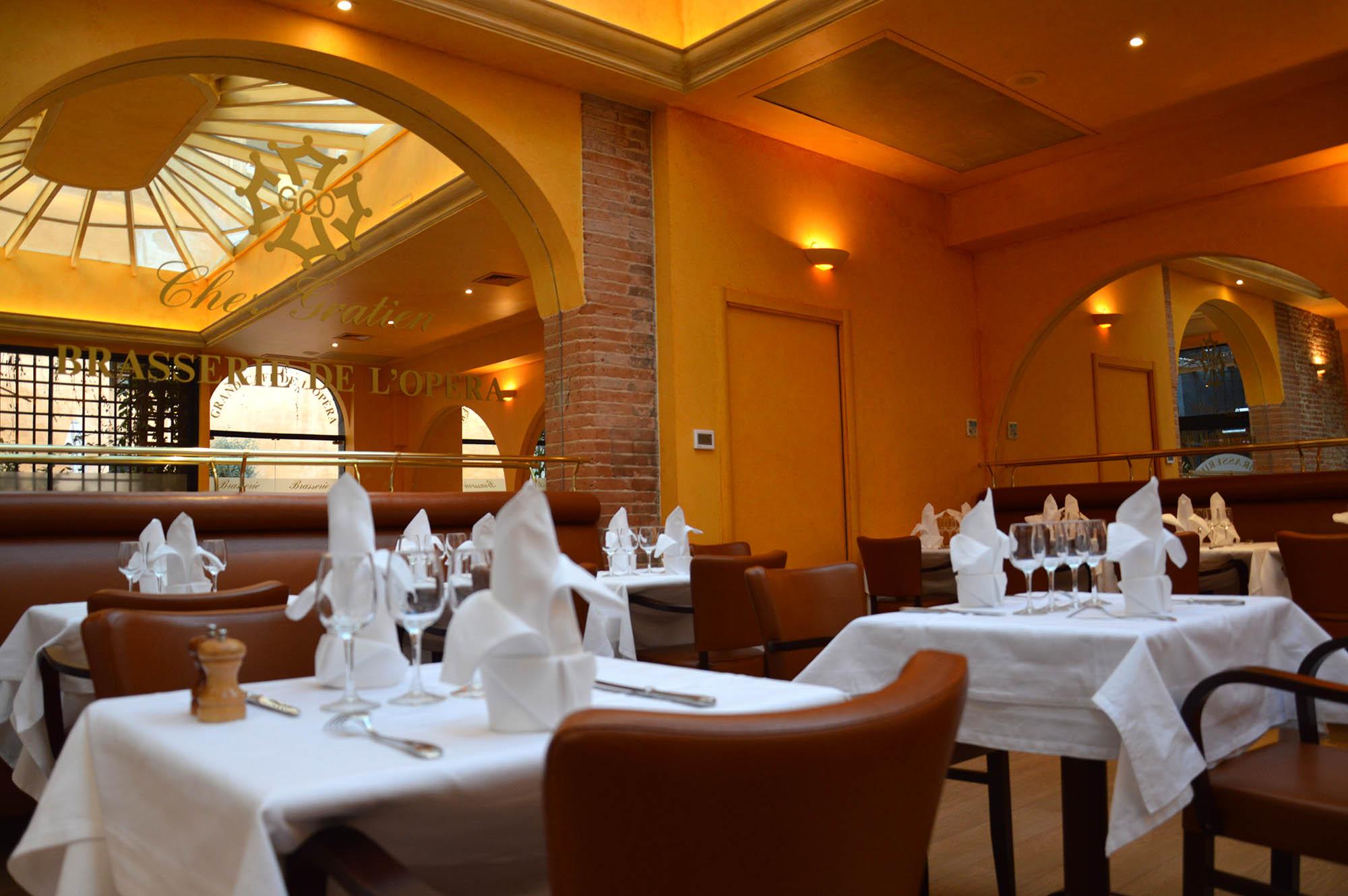 restaurant toulouse brasserie de l op ra du chef gratien castro. Black Bedroom Furniture Sets. Home Design Ideas