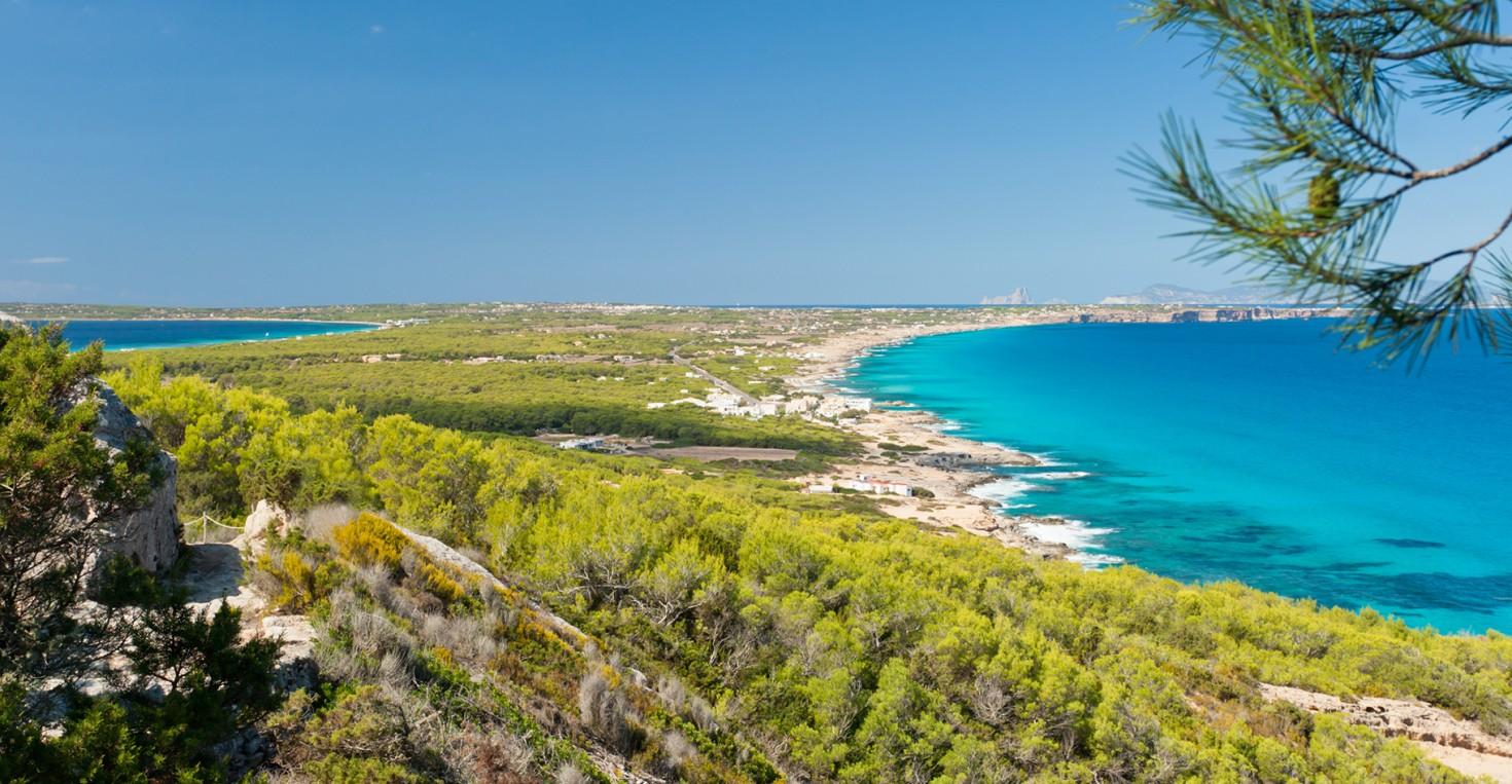 Pristine beaches in the Mediterranean sea.