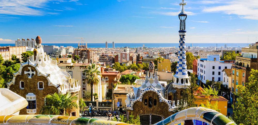 Vue de Barcelone depuis le Parc Güell.