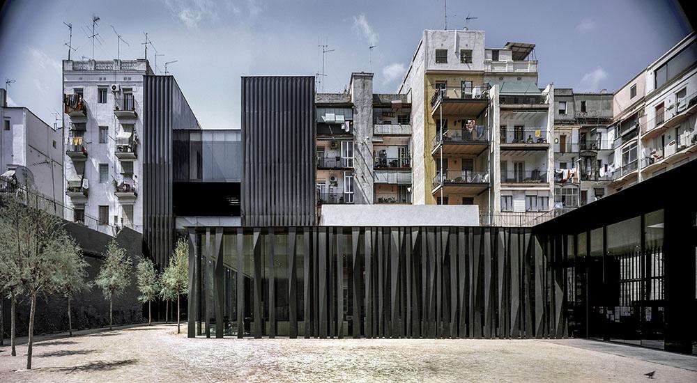 Bibliothèque à Barcelone