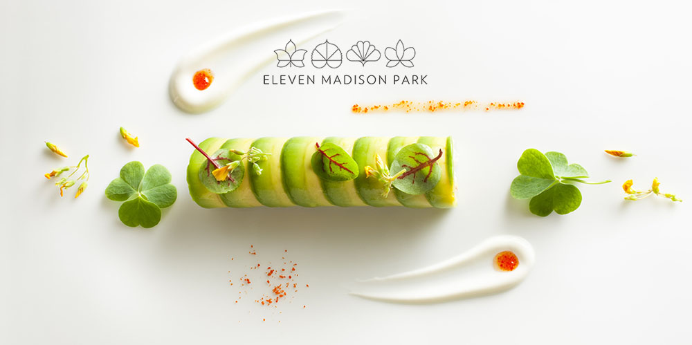 Avocado and Crab Roulade prepared by Daniel Humm, Executive Chef of Eleven Madison Park in NYC.