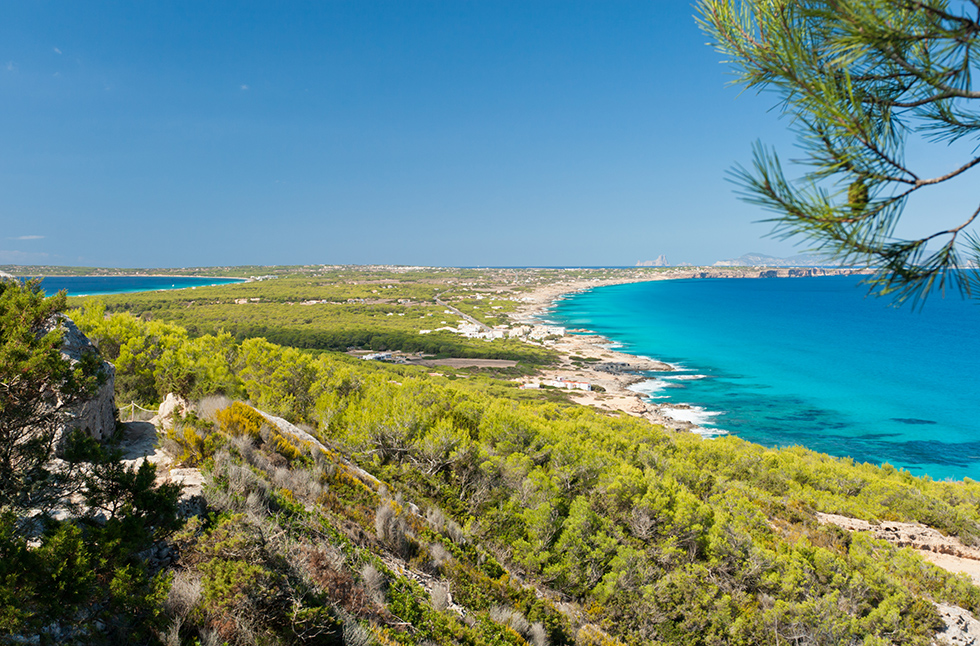Pristine beaches in the Mediterranean sea.